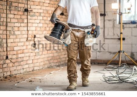 Electricista escalera hombre construcci n for Escalera de electricista