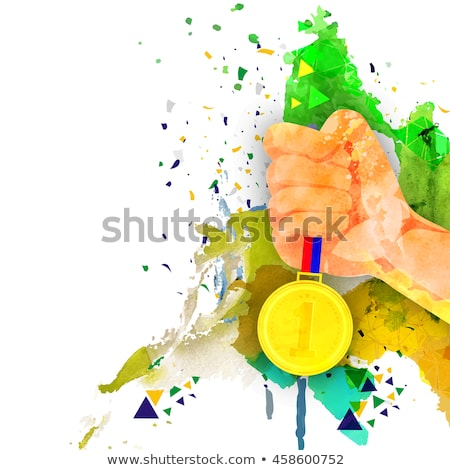 Olympic games gold medal abstract background Stock photo © cienpies