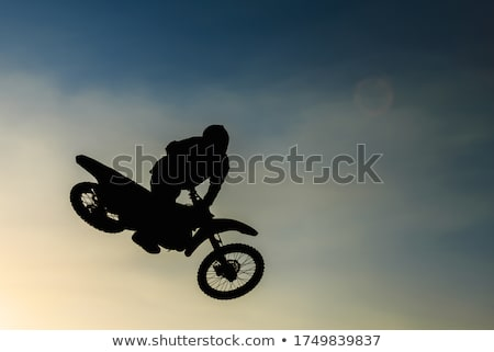 MX Rider silhouette Stock photo © vlad_star