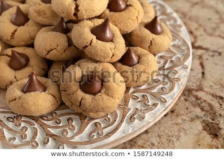 Pindakaas bloesem cookies vers gebakken voedsel Stockfoto © saje