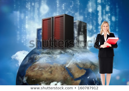 Young fair-haired woman carrying globe Stock photo © photography33