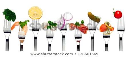 food on fork Stock photo © Pakhnyushchyy