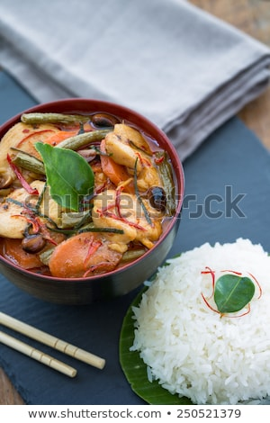 thai · caril · carne · de · porco · comida · verde · vermelho - foto stock © travelphotography