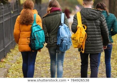 Gençler okul kadın adam mutlu yürüyüş Stok fotoğraf © photography33
