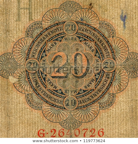 Part Of Expired German Banknote Сток-фото © Taigi