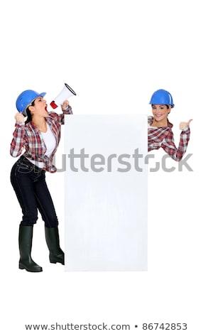 craftswoman shouting Stock photo © photography33
