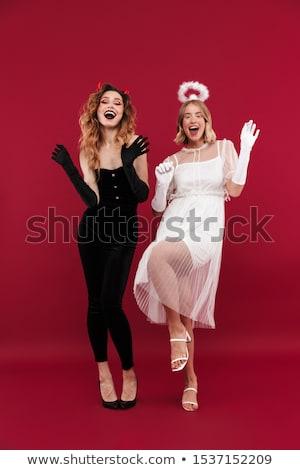 atractivo · mujer · rubia · rezando · blanco · mujer · orar - foto stock © oneinamillion