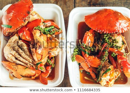 Crabe marché restaurants Cambodge tropicales asian Photo stock © travelphotography