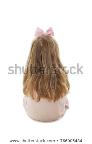 Hátulnézet hosszú hajú fiatal női gyermek hátsó nézet Stock fotó © stockyimages