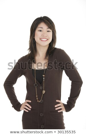 zakenvrouw · koffer · jonge · geïsoleerd · witte · vrouw - stockfoto © forgiss