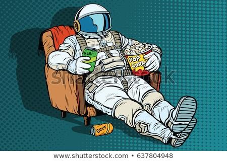 Cósmico espaço herói outro planeta Foto stock © cteconsulting