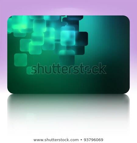 Gift card sjabloon ontwerp eps vector bestand Stockfoto © beholdereye