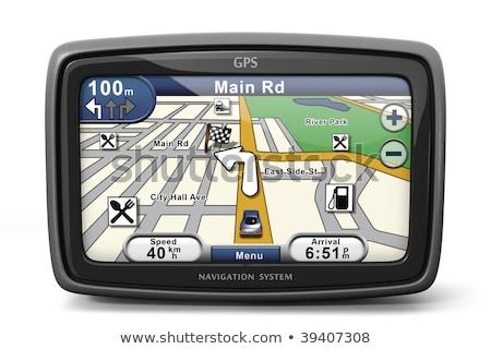 Gps scherm navigatie business auto wegen Stockfoto © ArenaCreative