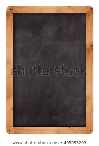 Old chalk board with wood frame Stock photo © Witthaya