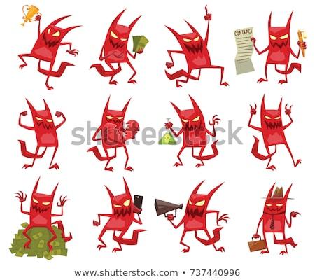 Pequeño diablo Cartoon ilustración vector Foto stock © derocz