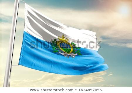 флаг Сан-Марино белый синий горизонтальный Сток-фото © dvarg