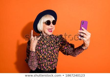 őrült nő közelkép portré gyönyörű fiatal lány Stock fotó © jayfish