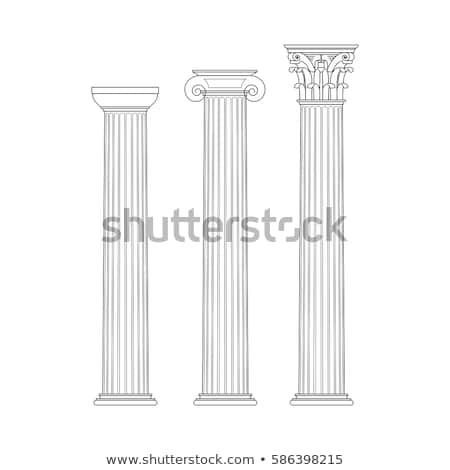 Ionica colonna dettaglio arte pietra pattern Foto d'archivio © angusgrafico
