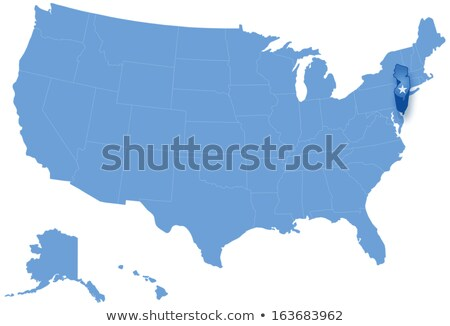 Map of States of the United States where New Jersey is pulled out Stock photo © Istanbul2009
