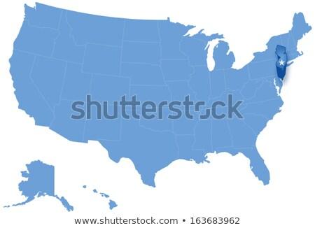 Harita Amerika Birleşik Devletleri New Jersey dışarı siyasi tüm Stok fotoğraf © Istanbul2009