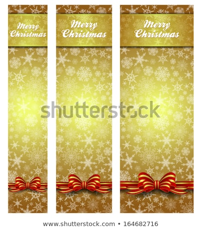 Stock photo: Snowflakes Christmas Gold Web Banners easy to modify