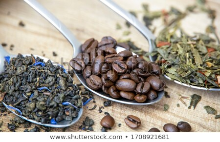 coffee beans or tea leaves Stock photo © compuinfoto