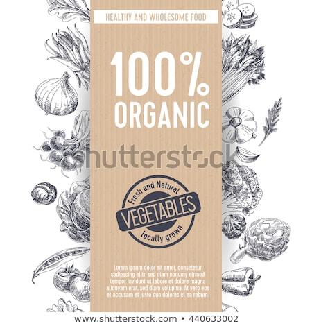 organic & farm-vector labels and elements stock photo © pulsar75