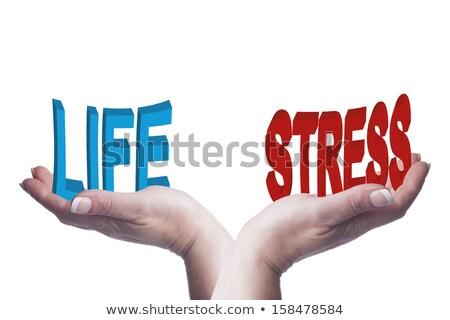 Feminino mãos equilíbrio trabalhar estresse 3D Foto stock © jenbray