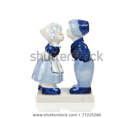 Typical dutch delft blue ceramic Stock photo © michaklootwijk