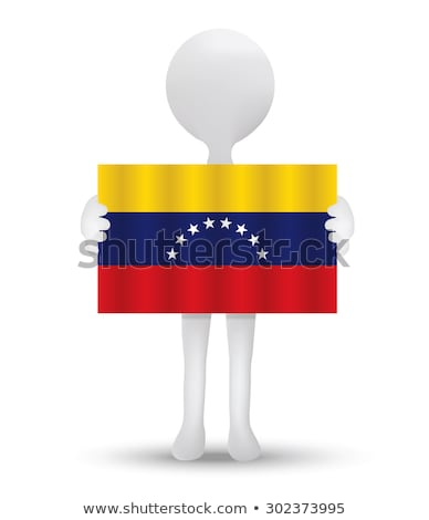 small 3d man holding a venezuelan flag stock photo © istanbul2009