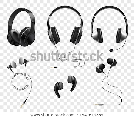 3D kulaklık mikrofon dizayn teknoloji telefon Stok fotoğraf © designers
