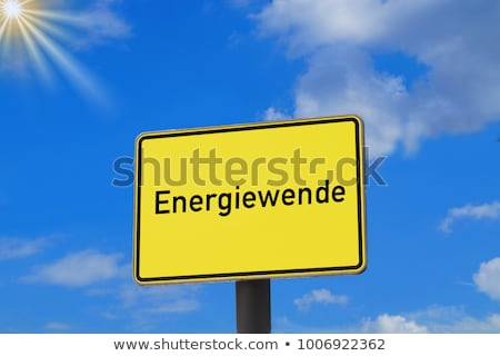Energie overgang 3D gegenereerde foto Duitsland Stockfoto © flipfine