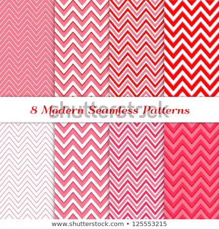 White fabric with a red chevron pattern Stock photo © Zerbor