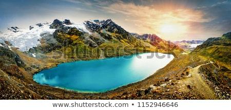 Díszlet gleccser körül Peru dél-amerika fű Stock fotó © prill