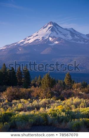 belo · nuvens · céu · acima · verde · montanha - foto stock © cboswell