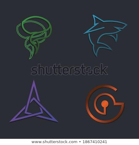 Foto stock: Establecer · cuadrados · empresarial · logos · diferente · colores