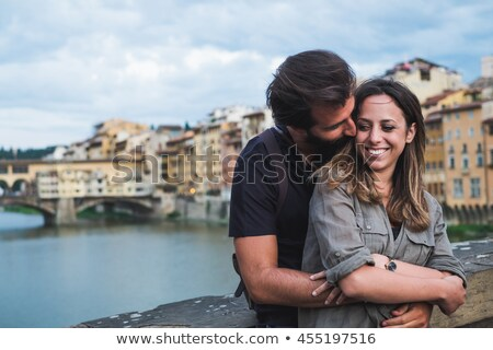 relax in Florence in front of Ponte Vecchio Stock photo © eddygaleotti