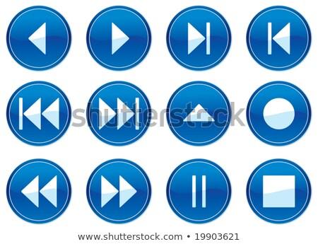 Gadget icons set. White - dark blue palette. Stock photo © boroda