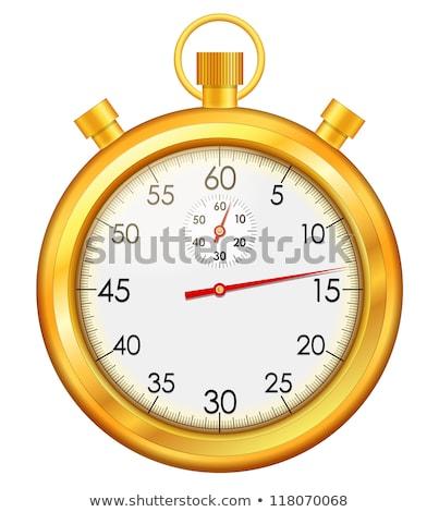 Kronometre altın vektör ikon dizayn hizmet Stok fotoğraf © rizwanali3d