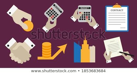 Bütçe anlaşma sarı vektör ikon dizayn Stok fotoğraf © rizwanali3d