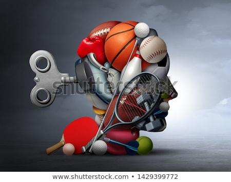 Sport voordelen illustratie meisje yoga silhouet Stockfoto © adrenalina
