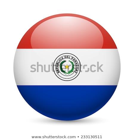 Round button with flag of paraguay Stock photo © MikhailMishchenko