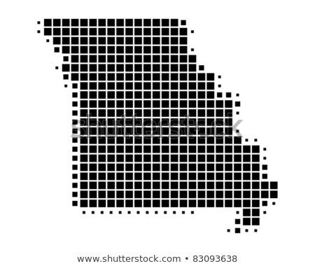 Map of USA Missouri State with Dot Pattern Stock photo © Istanbul2009