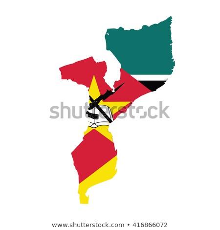 карта Мозамбик флаг текстуры дизайна знак Сток-фото © ojal