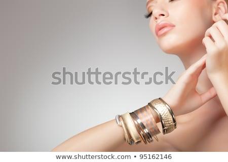 Güzellik portre zarif kadın değerli kolye Stok fotoğraf © Victoria_Andreas