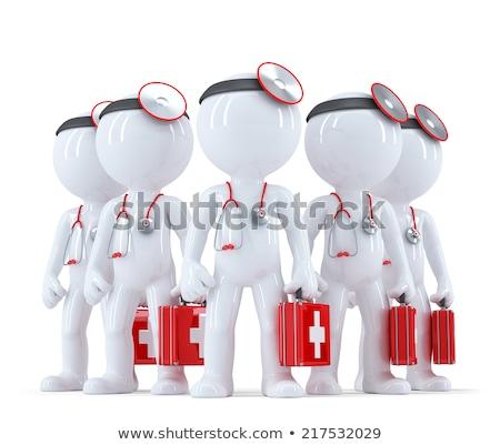 médico · primeros · auxilios · blanco · aislado · 3D - foto stock © kirill_m