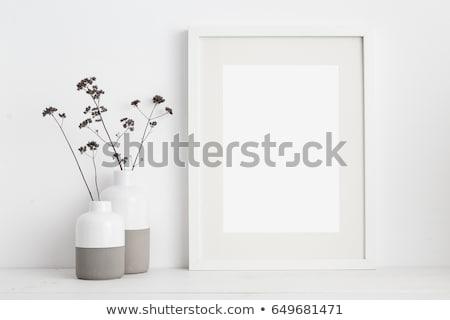 shelf and blank poster Stock photo © netkov1