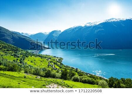 Sceniczny krajobrazy norweski niebo wody Zdjęcia stock © master1305