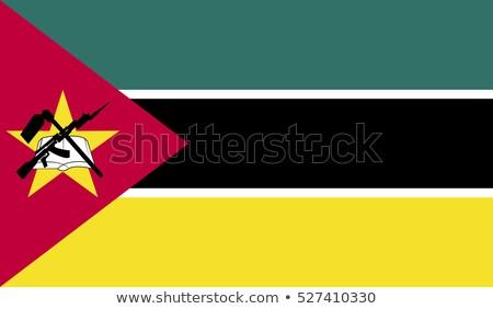 Bandeira Moçambique textura mapa assinar verde Foto stock © ojal