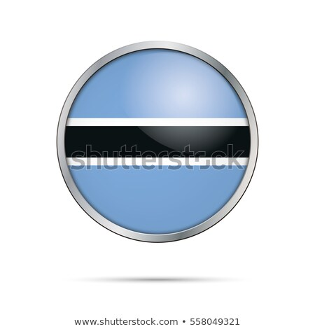 Stock photo: Botswana flag button
